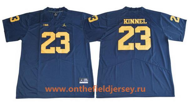 Men's Michigan Wolverines #23 Tyree Kinnel Navy Blue 2017 College Football Stitched Brand Jordan NCAA Jersey