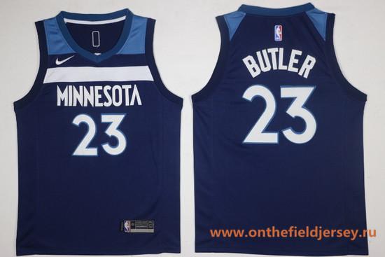Men's Minnesota Timberwolves #23 Jimmy Butler Navy Blue 2017-2018 Nike Swingman Stitched NBA Jersey