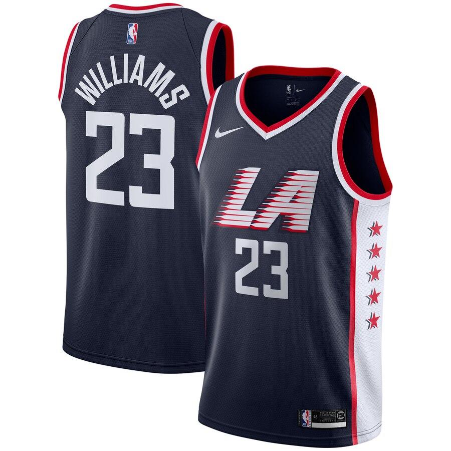 Men's Los Angeles Clippers #23 Lou Williams Black LA City Edition Nike Swingman Stitched NBA Jersey