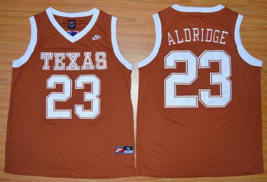 Men's Texas Longhorns #12 LaMarcus Aldridge Burnt Orange College Basketball Jersey