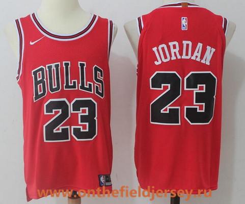 Men's Chicago Bulls #23 Michael Jordan Red 2017-2018 Nike Swingman Stitched NBA Jersey