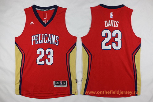 Youth New Orleans Pelicans #23 Anthony Davis Red Stitched NBA Adidas Swingman Jersey