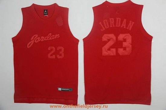 Men's Brand Jordan #23 Michael Jordan All Red Swingman Stitched Basketball Jersey