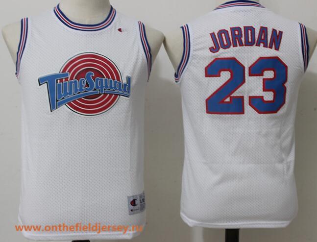 Youth The Movie Space Jam #23 Michael Jordan White Soul Swingman Basketball Jersey