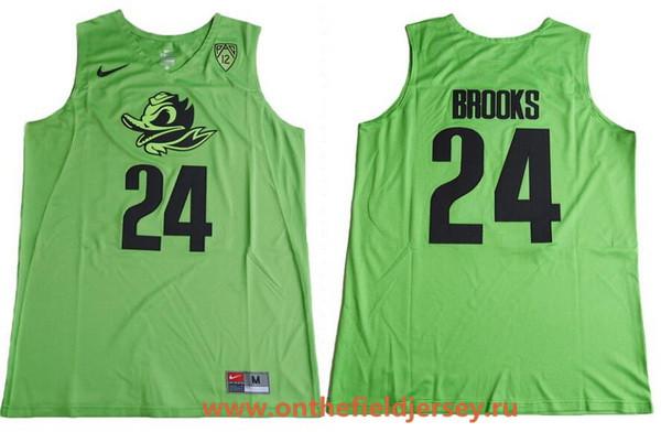 Men's Oregon Ducks #24 Dillon Brooks Electric Green College Basketball 2017 Nike Swingman Stitched NCAA Jersey