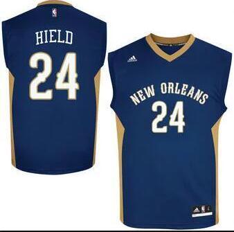 Men's New Orleans Pelicans #24 Buddy Hield Navy Blue Stitched NBA adidas Revolution 30 Swingman Jersey