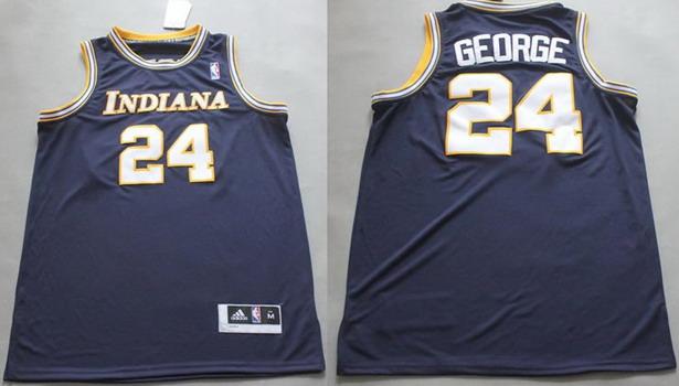 Indiana Pacers #24 Paul George Navy Blue Soul Swingman Jersey