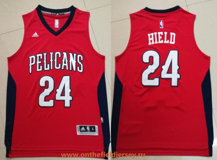 Men's New Orleans Pelicans #24 Buddy Hield Red Stitched NBA adidas Revolution 30 Swingman Jersey