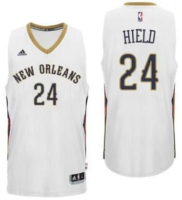 Men's New Orleans Pelicans #24 Buddy Hield White Stitched NBA adidas Revolution 30 Swingman Jersey