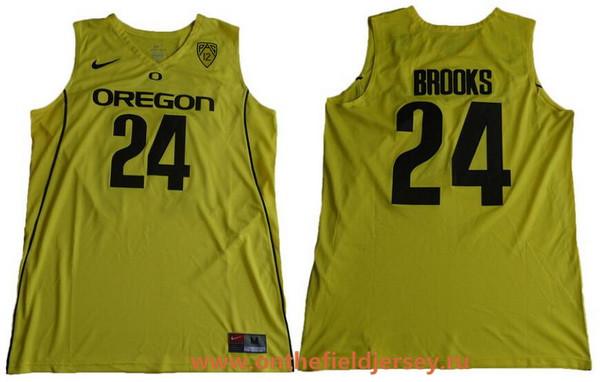 Men's Oregon Ducks #24 Dillon Brooks Yellow College Basketball 2017 Nike Swingman Stitched NCAA Jersey