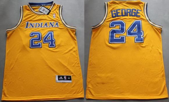 Indiana Pacers #24 Paul George Yellow Soul Swingman Jersey
