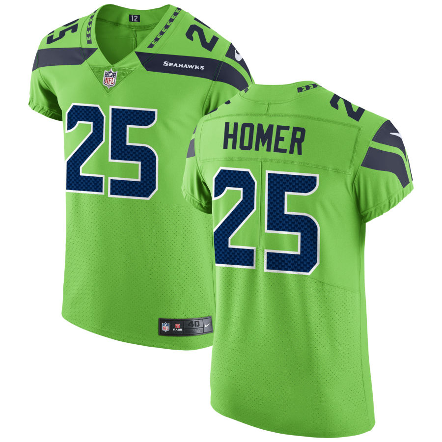 Men's Seattle Seahawks #25 Travis Homer Green Stitched NFL Nike Game Jersey