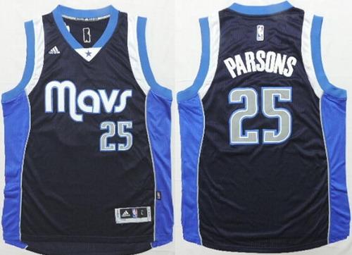 Men's Dallas Mavericks #25 Chandler Parsons Revolution 30 Swingman 2014 New Navy Blue Jersey