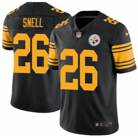 Men's Pittsburgh Steelers #26 Benny Snell Black Color Rush Stitched NFL Nike Limited Jersey