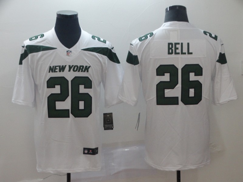 Men's New York Jets #26 Le'Veon Bell White 2019 Vapor Untouchable Stitched NFL Nike Limited Jersey