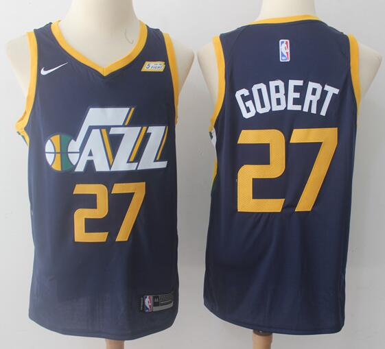 Men's Utah Jazz #27 Rudy Gobert Navy Blue 2017-2018 Nike Swingman Stitched NBA Jersey