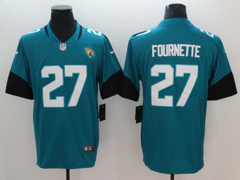 Men's Jacksonville Jaguars #27 Leonard Fournette Teal Green 2019 Vapor Untouchable Stitched NFL Nike Limited Jersey