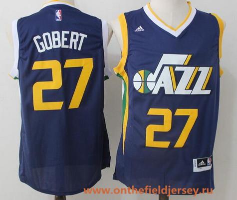 Men's Utah Jazz #27 Rudy Gobert Navy Blue Stitched NBA adidas Revolution 30 Swingman Jersey