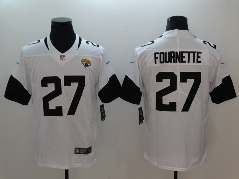 Men's Jacksonville Jaguars #27 Leonard Fournette White 2019 Vapor Untouchable Stitched NFL Nike Limited Jersey