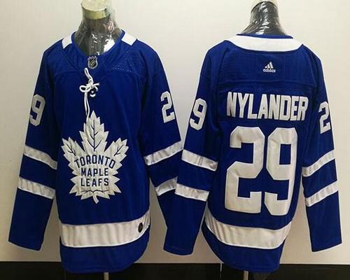 Men's Toronto Maple Leafs #29 William Nylander Royal Blue Home 2017-2018 adidas Hockey Stitched NHL Jersey