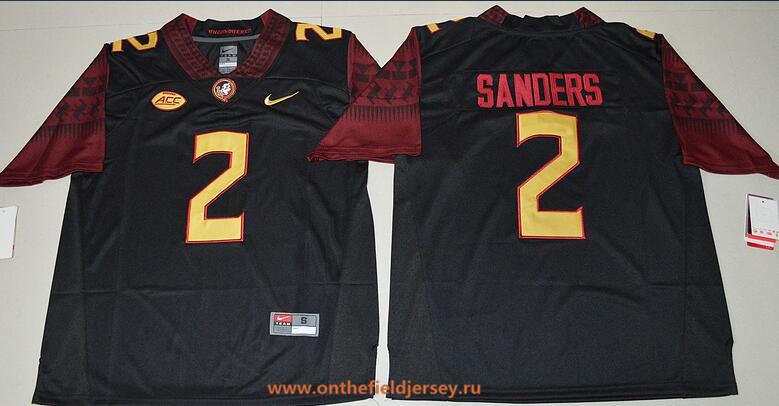 Men's Florida State Seminoles #2 Deion Sanders Black Stitched College Football 2016 Nike NCAA Jersey