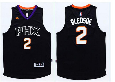 Men's Phoenix Suns #2 Eric Bledsoe Revolution 30 Swingman 2015-16 Black Jersey