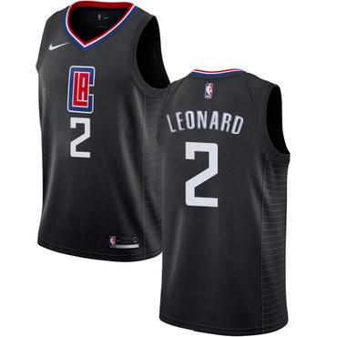 Men's Los Angeles Clippers #2 Kawhi Leonard Black Nike Swingman Stitched NBA Jersey