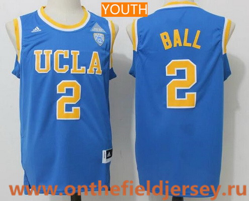 Youth UCLA Bruins #2 Lonzo Ball Light Blue College Basketball 2017 adidas Swingman Stitched NCAA Jersey
