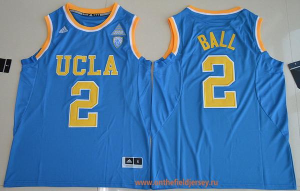 Men's UCLA Bruins #2 Lonzo Ball Light Blue College Basketball 2017 adidas Swingman Stitched NCAA Jersey