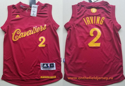Youth Cleveland Cavaliers #2 Kyrie Irving adidas Burgundy Red 2016 Christmas Day Stitched NBA Swingman Jersey