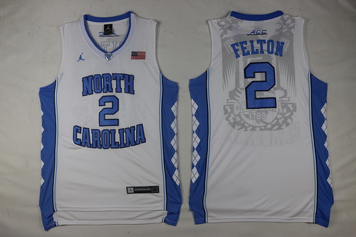 Men's North Carolina Tar Heels #2 Jalek Felton White Soul Swingman Basketball Jersey