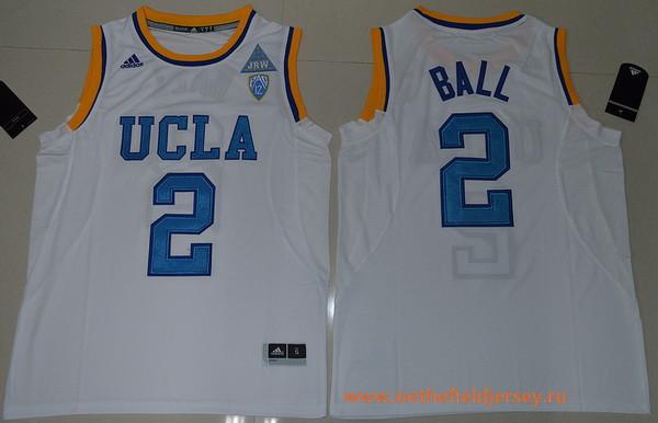Men's UCLA Bruins #2 Lonzo Ball White College Basketball 2017 adidas Swingman Stitched NCAA Jersey