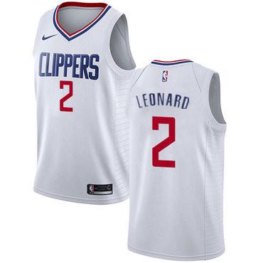 Men's Los Angeles Clippers #2 Kawhi Leonard White Nike Swingman Stitched NBA Jersey