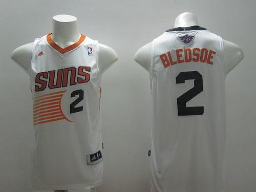Phoenix Suns #2 Eric Bledsoe Revolution 30 Swingman White Jersey