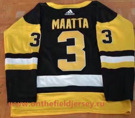 Men's Pittsburgh Penguins #3 Olli Maatta Black Home 2017-2018 adidas Hockey Stitched NHL Jersey