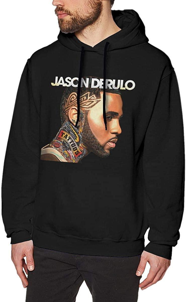Men's Hoodies Sweater Manner Hoodies Jason Derulo Fashion Long Sleeve Top No Pocket Hooded Sweatshirts Funny Baseball Tops