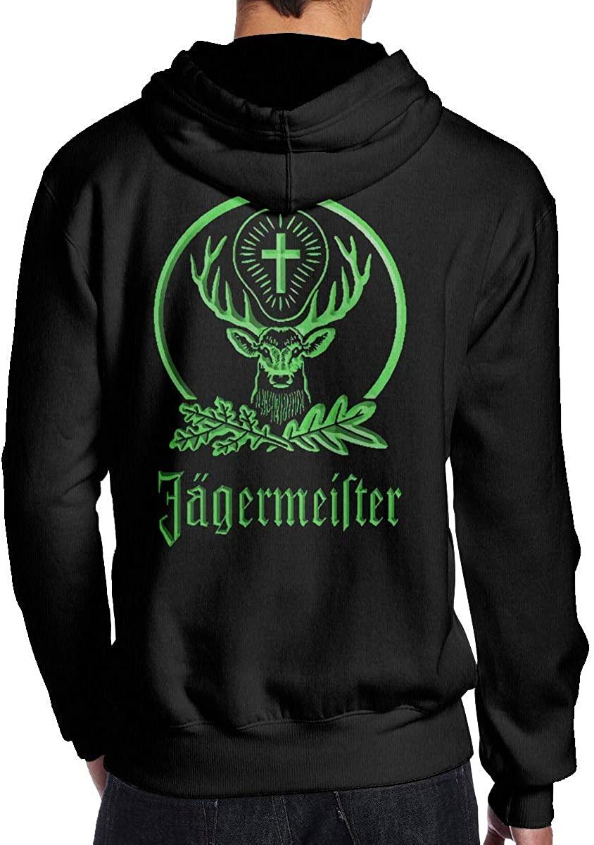 Herren Kapuzenpullover, Hooded Sweat, J?germeister Men's Hoodie Sweatshirt