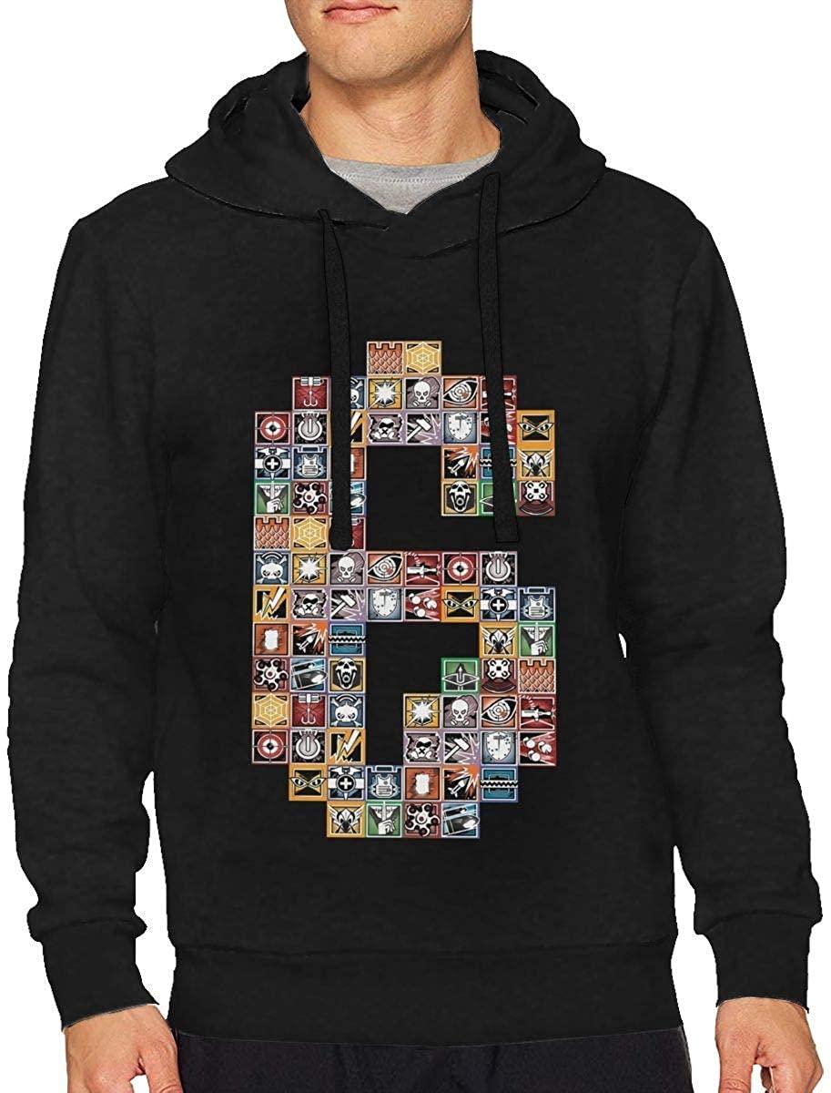 Hoodies Casual Hooded  Rainbow Six Siege Shirt Men's Drawstring Sweatshirts Pullover