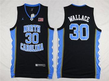 Men's North Carolina Tar Heels #30 Rasheed Wallace 2016 Black Swingman College Basketball Jersey