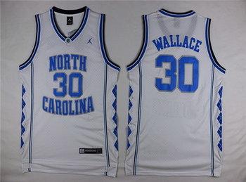 Men's North Carolina Tar Heels #30 Rasheed Wallace 2016 White Swingman College Basketball Jersey