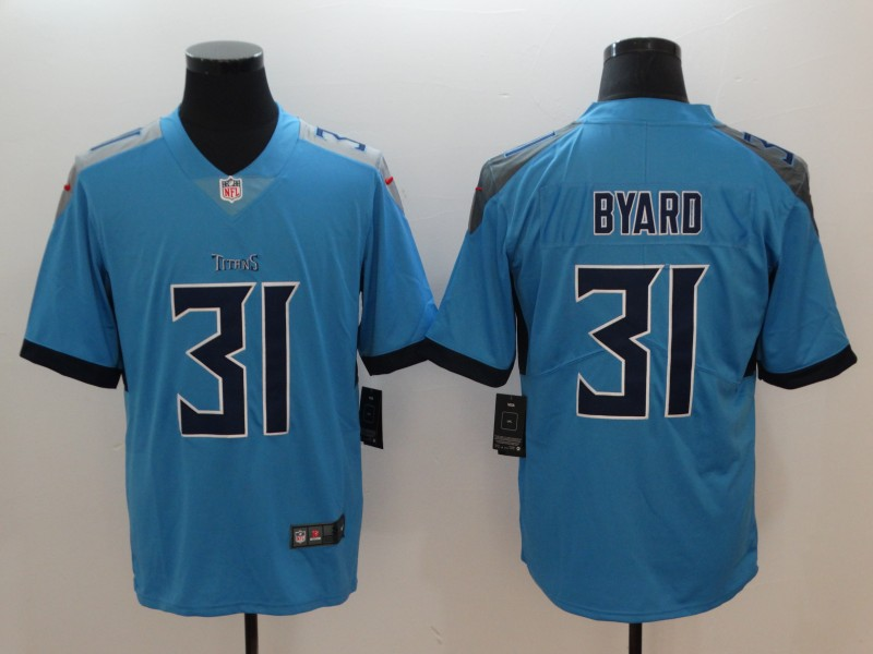 Men's Tennessee Titans #31 Kevin Byard Light Blue 2019 Vapor Untouchable Stitched NFL Nike Limited Jersey