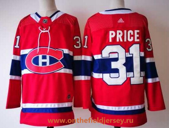 Men's Montreal Canadiens #31 Carey Price Red Home 2017-2018 Adidas Hockey Stitched NHL Jersey