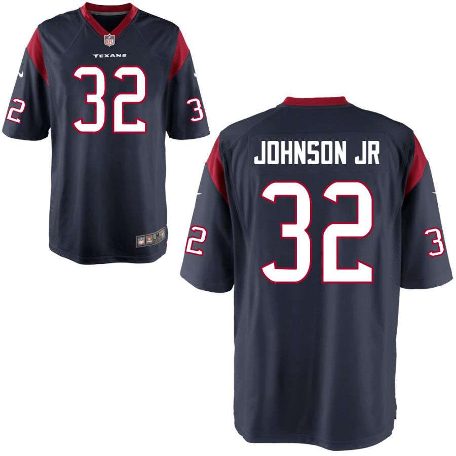Men's Houston Texans #32 Lonnie Johnson Jr Navy Blue Stitched NFL Nike Game Jersey
