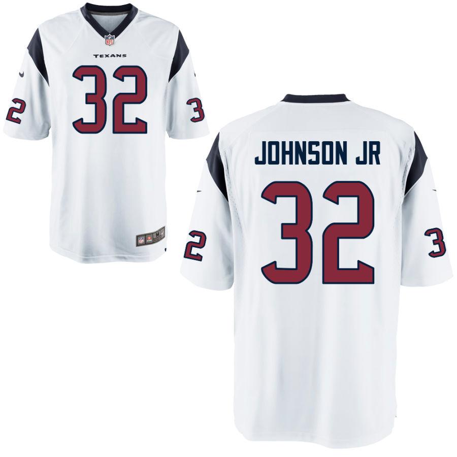 Men's Houston Texans #32 Lonnie Johnson Jr White Stitched NFL Nike Game Jersey
