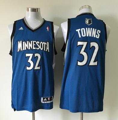 Men's Minnesota Timberwolves #32 Karl-Anthony Towns Revolution 30 Swingman Blue Jersey
