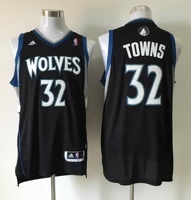 Men's Minnesota Timberwolves #32 Karl-Anthony Towns Revolution 30 Swingman Black Jersey