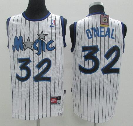 Men's Orlando Magic #32 Shaquille O'neal White Stitched NBA Nike Swingman Jersey