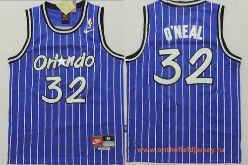 Youth Orlando Magic #32 Shaquille O'Neal Blue Stitched NBA Nike Swingman Jersey