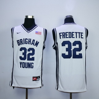 Men's Brigham Young Cougars #32 Jimmer Fredette 2010-11 White College Basketball Nike Swingman Jersey