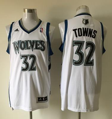 Men's Minnesota Timberwolves #32 Karl-Anthony Towns Revolution 30 Swingman White Jersey
